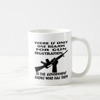 Only ONE Reason For Gun Registration Coffee Mugs