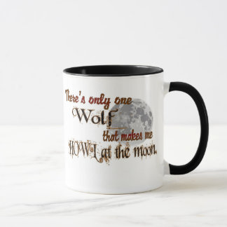 Only one wolf for me mug