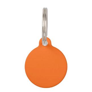 Only orange solid color pet tag