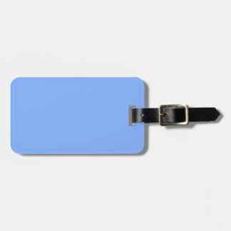 Only pale blue stylish solid color background luggage tag