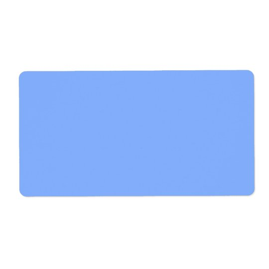 Only pale blue stylish solid colour OSCB31 Shipping Label