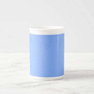 Only pale blue stylish solid OSCB31 background Bone China Mug
