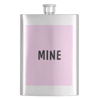 Only pink pretty solid color OSCB14 Hip Flask