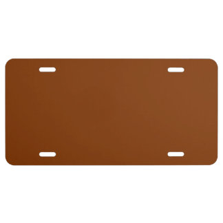 Only red rust vintage solid license plate covers
