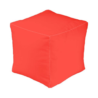 Only red tomato rustic cube pouf OSCB35 Cube Pouffe