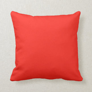 Only red tomato rustic solid color cushion