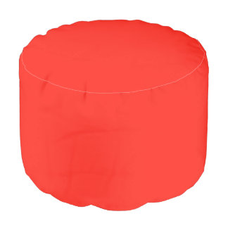 Only red tomato rustic solid color custom pouf round pouffe