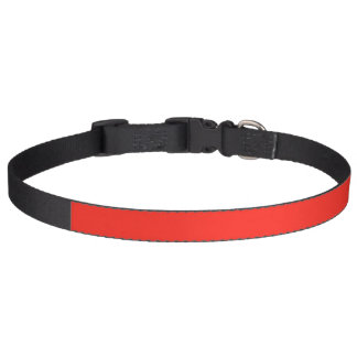 Only red tomato rustic solid color dog collars