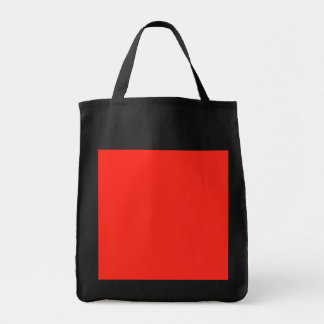Only red tomato rustic solid color grocery tote bag