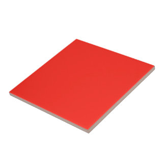 Only red tomato rustic solid color small square tile