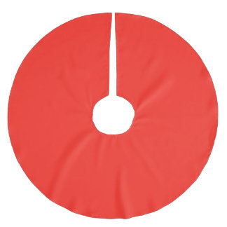 Only red tomato rustic solid color tree skirt brushed polyester tree skirt