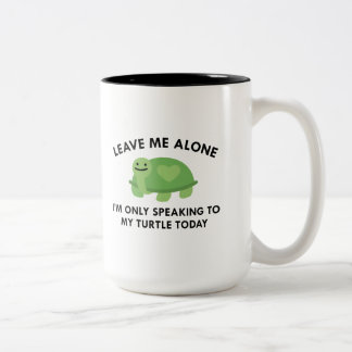 Only Speaking To My Turtle Two-Tone Coffee Mug