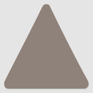 Only Taupe b solid color Triangle Sticker
