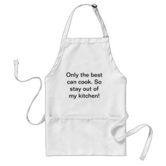 Only the best can cook standard apron