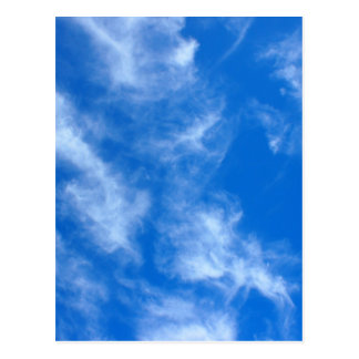 Only the blue sky with cirrus clouds postcard