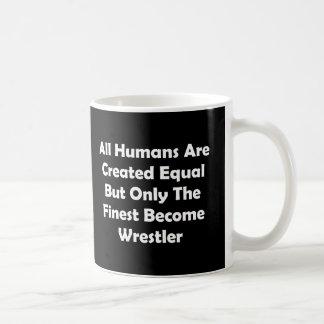 Only The Finest Become Wrestler Basic White Mug