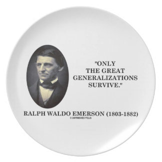 Only The Great Generalizations Survive Emerson Plates