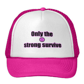 Only The Strong Survive Smiley Face Hat