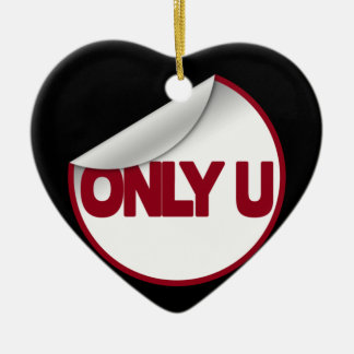 Only U (You) Ceramic Heart Decoration