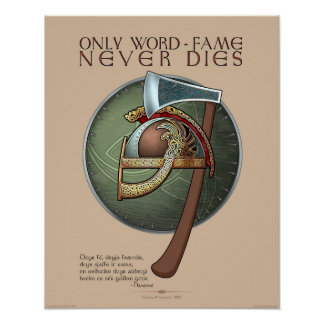 """Only Word-Fame Never Dies"" Poster (16x20"")"