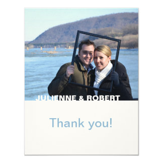 Only You | Modern Photo Wedding Thank You Card