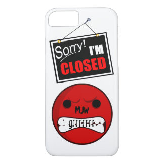 Onomatopoeia word grrrrrr thinking anger iPhone 7 case