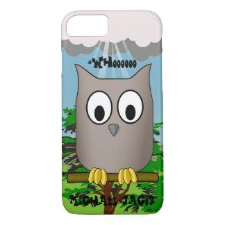 Onomatopoeia word whooo thinking owl iPhone 7 case