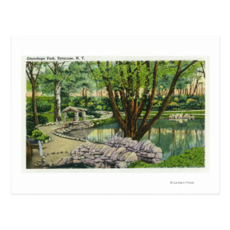 Onondaga Park Scene Postcard