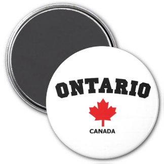 Ontario Block 7.5 Cm Round Magnet