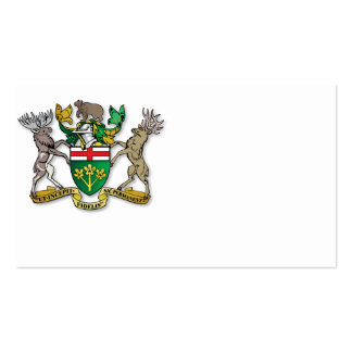 Ontario coat of arms pack of standard business cards
