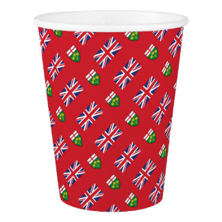 Ontario Flag Paper Cup