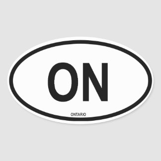 "Ontario ""ON"" Oval Sticker"