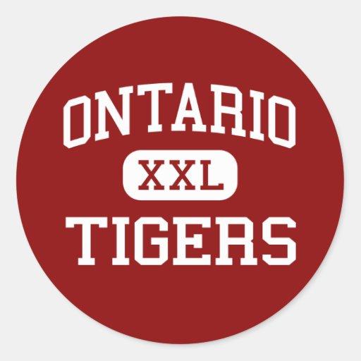 Ontario - Tigers - High School - Ontario Oregon Round Sticker