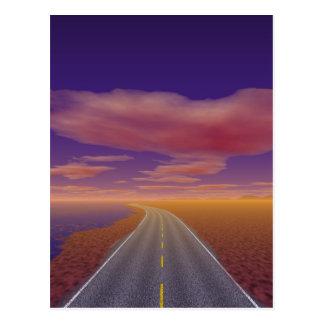 OnTheRoadAgain - Lonesome Trucker Postcard