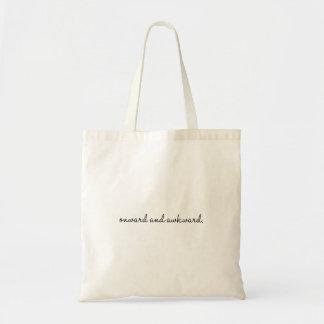 Onward and awkward tote bag