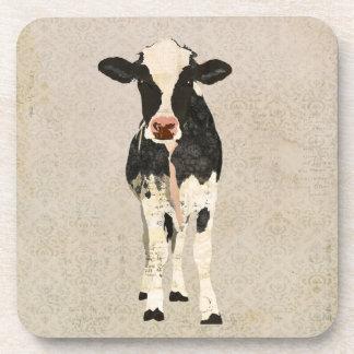 Onyx & Ivory Cow Coaster