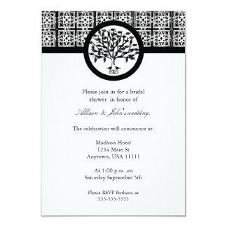 Onyx Tree Emblem Bridal Shower Invitation