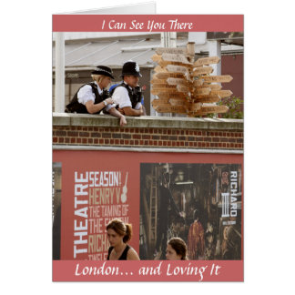 OO225: I Can See You There: London Greeting Card