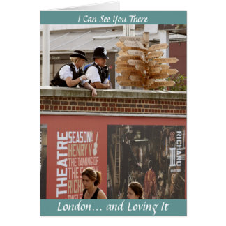 OO225: I Can See You There: London Greeting Card 3