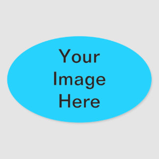 #ooccff Blue Background Template Colorful Oval Sticker