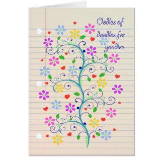 Oodles of Doodles for Yoodle!  Notebook Paper Dood Card