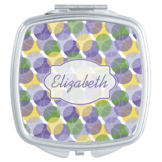 Oodles of Dots Personalized Compact Mirror - Cool