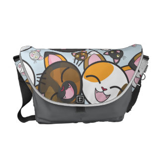 Oodles of Kawaii Kitties- Messenger Bag