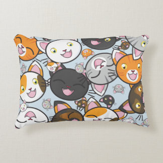 Oodles of Kitty- Rectangle Pillow (choose color)