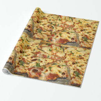 Ooey Gooey Cheese Pizza Wrapping Paper