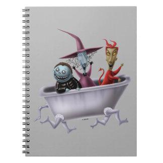 Oogie's Boys | Lock, Shock & Barrel in Bathtub Notebooks