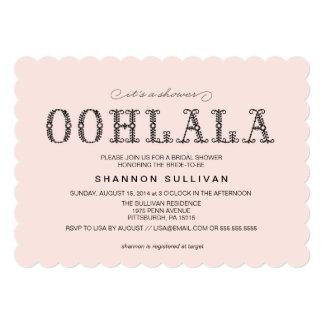 Ooh, La La Bridal Shower invitation