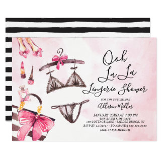 Ooh La La Lingerie Bridal Shower Invitation