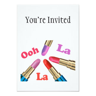 Ooh La La Luscious Lipstick Card