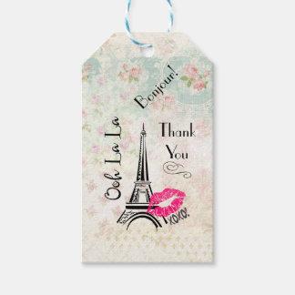 Ooh La La Paris Eiffel Tower Thank You Gift Tags